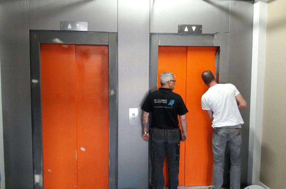 lift fronten Apart-hotels te Den Haag